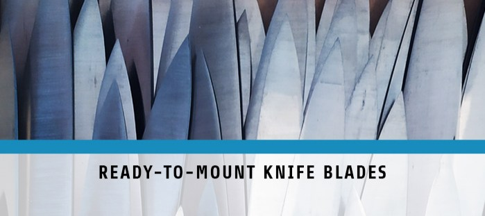 Ready to mount knife blades
