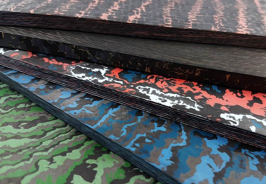 Plaquettes en Fibre de carbone colorée