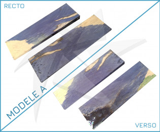 Plaquettes hêtre échauffé stabilisé - bleu