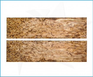 Stabilized curly birch scales - brown