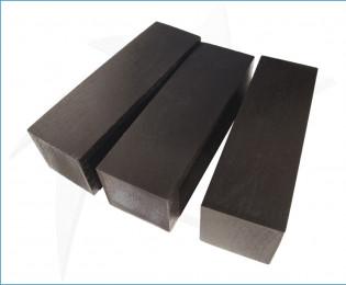 Blocs de bois de charme stabilisé noir
