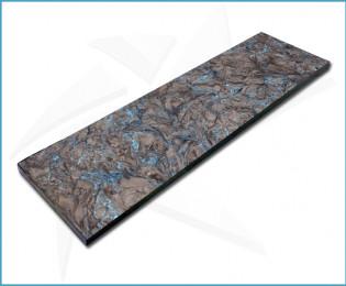 Plaquettes fibre carbone - Dark Matter Bleu