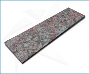 Plaquettes fibre carbone - Dark Matter Rouge