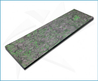 Plaquettes fibre carbone - Dark Matter Vert
