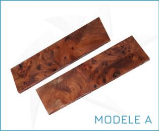 Plaquettes de loupe d'orme stabilisée