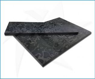 Black Camo carbon fiber scales
