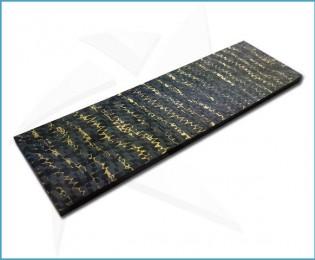 Plaquettes fibre de carbone - Snakeskin Gold