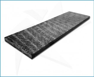 Plaquettes fibre carbone - Snakeskin Titanium