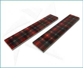 Cristallium® Scales - Red tartan fabric