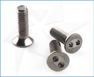 Snake eyes countersunk stainless screws - M3