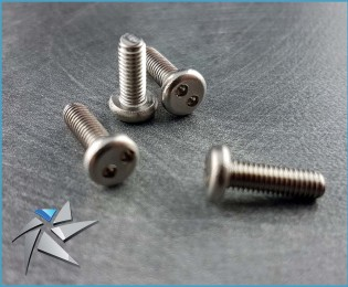 Pan head Snake eyes stainless screws - M3