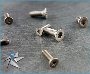 Torx countersunk head stainless screws - M2